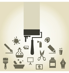 Icon art vector image vector image