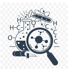 Icon science day black vector