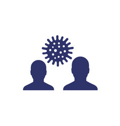 Infection icon with virus and people vector