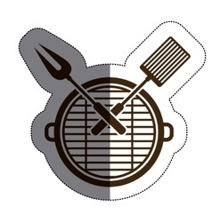 Isolated grill and tools design vector