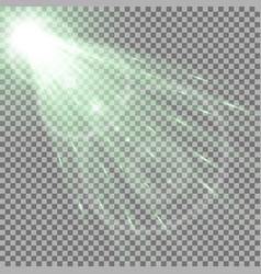 Light circle with a spotlight green color vector