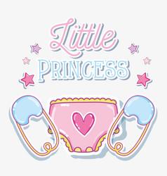 little princess baby girl card vector image