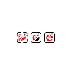 martial logo icon vector image