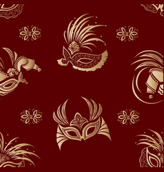 masks seamless pattern vector image