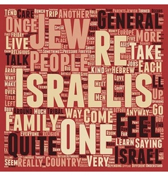 Meet the Israelis text background wordcloud vector image