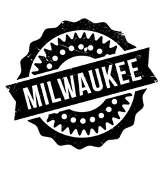 Milwaukee stamp rubber grunge vector