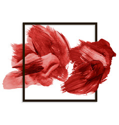 modern red banner abstract blot brushstroke vector image