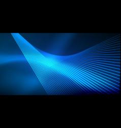 neon glowing techno lines blue hi-tech futuristic vector image