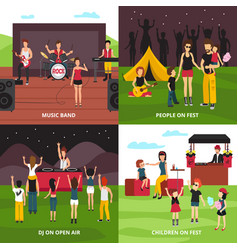 outdoor fest design concept vector image
