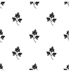 Parsley icon in black style isolated on white vector