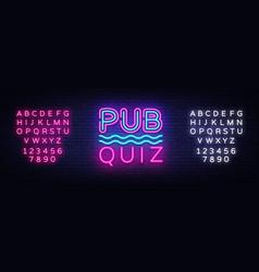 Pub quiz night announcement poster design vector