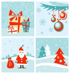 retro winter vector image