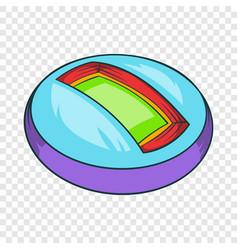 round indoor stadium icon cartoon style vector image