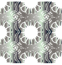 Seamless silver pattern ethnic texture vector