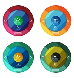 Set of round option diagram template for your data vector image