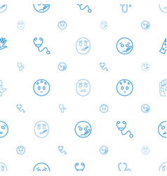 Sick icons pattern seamless white background vector
