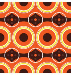 Sixties orange retro vector