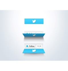 Social media follow button and counter vector