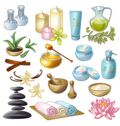 Spa Salon Decorative Icons Set vector image