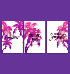 summer time blurred banner greeting card vector image