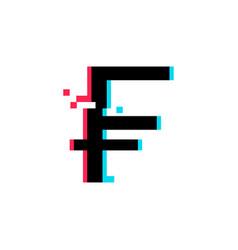 Swiss frank icon vector