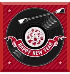 Symbol of the new year plate vector image