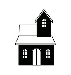 traditional house swiss architecture style vector image