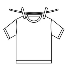 Tshirt dry icon outline style vector