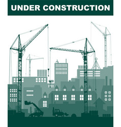 turquoise under construction concept at building vector image