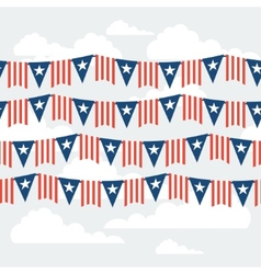 United States of America Independence Day seamless vector image