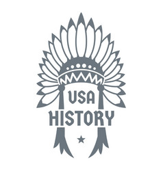 Usa history logo simple style vector