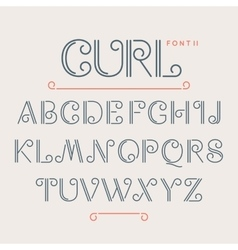 Vintage abc alphabet font vector image