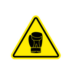 Warning sign boxung symbol hazard attention of vector