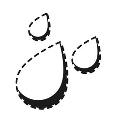 water drops icon vector image