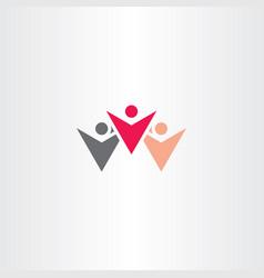 winner people logo symbol vector image