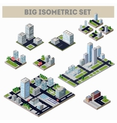 A large set of isometric city vector image vector image