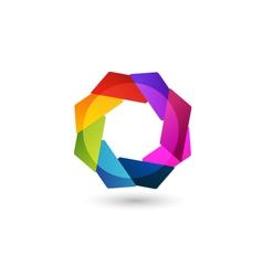 Abstract logo shape vector image vector image