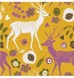 Deer summer print vector