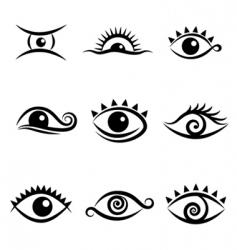 eye symbol set vector image vector image