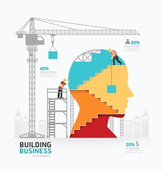 Infographic business head shape template design vector image vector image