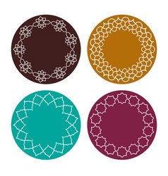 moroccan colorful frames clipart vector image vector image