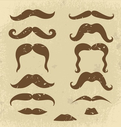 Mustaches collection vector image vector image