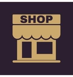 The shop icon Store symbol Flat vector image