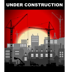 under construction concept in industrial vector image