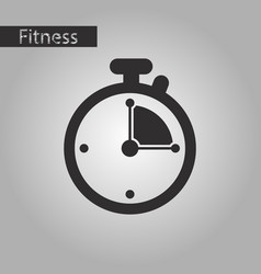 black and white style icon stopwatch vector image
