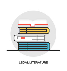 book line icon outline sign vector image