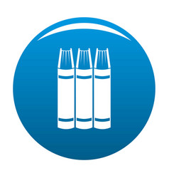 Book pile icon blue vector