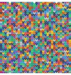 Colorful seamless texture of knitted fabrics vector image