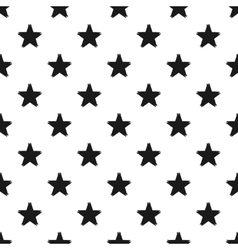 Grunge seamless pattern of black stars on white vector image