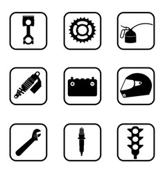 race icons on white background vector image